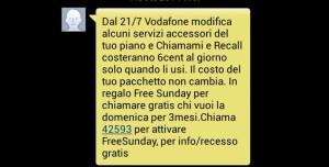Vodafone: credito telefonico scalato di 6 centesimi