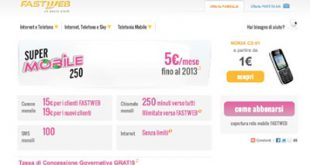 Offerte mobile Fastweb a 4G