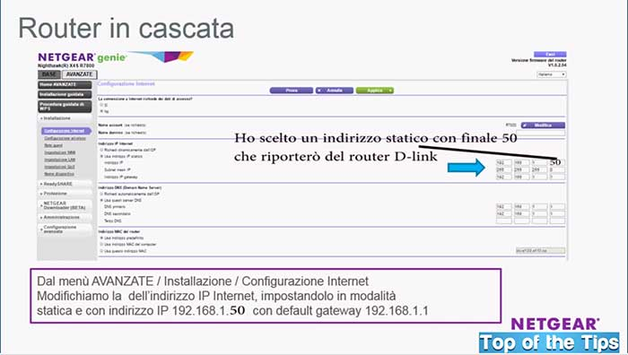 router in cascata