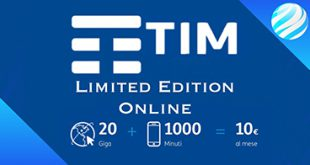 Tim limited edition: offerta mobile Tim